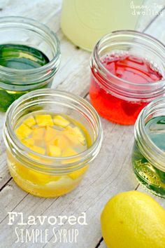 Flavored Simple Syrup -- for adding to tea, lemonade, etc. :)