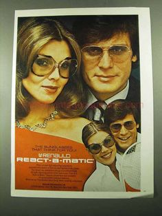b93767d44872 1976 Renauld React-A-Matic Sunglasses Ad · Balenciaga SunglassesGirls With  GlassesVintage ...