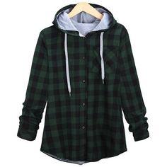 3e29ccfb725 Hoodies Sweatshirts 2017 Autumn Women Cotton Winter Coat Long Sleeve Plaid  Casual Button Hooded Sweatshirts plus size
