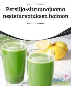 Persilja-sitruunajuoma nesteturvotuksen hoitoon Tämän luontaishoidon diureettiset vaikutukset ehkäisevät nesteturvotusta ja puhdistavat myrkyt ja kuona-aineet elimistöstä.