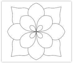 Simple Zentangle Patterns | flower free hand embroidery pattern