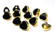 35 Heart Buttons For Fashion Crafts and Accessories by KBazaar, $3.50