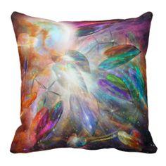 Healing Dreams Of Love Art Designer Pillow by Carol Cavalaris.
