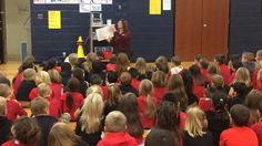 Cindi Clawson read to Kindergarten & 1st grade students as part of her quest to read to as many students as possible during her reading marathon. #PlymouthCSC_IN  #CCLawsonWNDU #WDAPlymouth