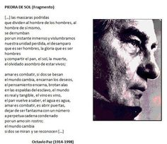 Piedra de Sol [Fragmento], de Octavio Paz, (1914-1998).