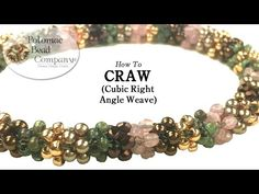 CRAW Stitch - Cubic Right Angle Weave Tutorial - YouTube, supplies from www.potomacbeads.com