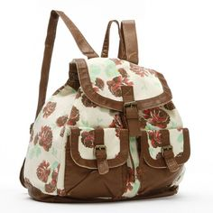 Mudd® Kenny Floral Canvas Backpack ($38) ❤ liked on Polyvore