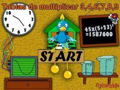 TABLA DE MULTIPLICAR: Juego divertido para practicar las tablas del 3,4,6,7,8,9 ~ Juegos gratis y Software Educativo