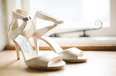 Image by Ann-Kathrin Koch. Brodal accessories. Gold Jimmy Choo shoes. Jimmy Choo wedding shoes.