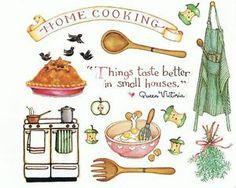 Susan Branch Home Cooking Susan Branch Blog, Decoupage, Branch Art, Recipe Scrapbook, Scrapbook Stickers, Food Illustrations, Recipe Cards, Food Art, Art Journals