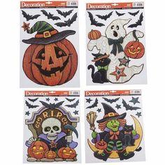 Colordrift LLC Halloween Jack O' Lantern Pumpkin Window Sticker