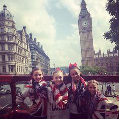 Maddie Ziegler, Mackenzie Ziegler, Kendall Vertes and Nia Frazier Europe Tour #BigBen