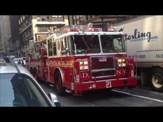 FDNY Responding Compilation 1 Full of Blazing Sirens & Loud Air Horns Throughout New York City - YouTube