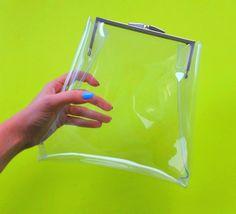 Clear plastic purse nfl bag premium transparent by YPSILONBAGS
