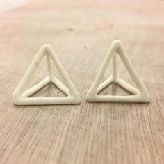 """10 Likes, 4 Comments - layla (@tigrisa.uk) on Instagram: """"Mini #porcelain #pyramid . #porcelainjewelry #ceramicjewelry. Survived the glaze firing"""""""