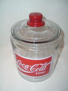 Unusual-Coca-Cola-Soda-Pop-Coke-Store-Candy-Cookie-Glasss-Jar-MINT $177.50 Pepsi, Coca Cola Addiction, Coca Cola Kitchen, Coca Cola Decor, Coca Cola Christmas, Always Coca Cola, World Of Coca Cola, Coca Cola Bottles, Vintage Coke