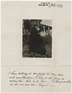 From Georgia O'Keeffe to Alfred Stieglitz, 1929.