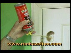 *I have a spot just like this on my bathroom door..I thought these apt doors weren't repairable. I am def going to give this a try!!!* Home improvement expert Ron Hazelton shows how you can patch and repair an unsightly hole in a hollow door. For more repair and restoration videos and tips, visit http://www.ronhazelton.com.