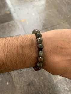 Also known as heliotrope, bloodstone is still used in parts of the world as an antiseptic. Beaded Bracelets, Beads, Jewelry, Stone Bracelet, Beading, Jewlery, Jewerly, Pearl Bracelets, Schmuck