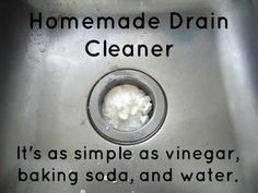 We Like Making Our Own Stuff: Homemade Drain Cleaner