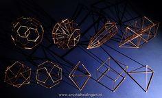 Sacred Geometry The truncated isosahedron, the diamond / brilliant shape, a phi vogel crystal, the kabbala, and the five platonic solids. http://www.crystalhealingart.nl