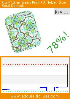 Ritz Kitchen Wears Print Pot Holder, Blue Floral Damask (Misc.). Drop 78%! Current price $14.15, the previous price was $65.00. http://www.adquisitio-usa.com/john-ritzenthaler-co/ritz-kitchen-wears-print-52