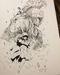 Drawing Flowers & Mandala in Ink - Drawing On Demand Ink Drawings, Cool Drawings, Drawing Sketches, Ink Illustrations, Illustration Art, Reference Manga, Art Graphique, Pen Art, Manga Art