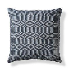 "Frontgate Coastal Diamond Decorative Pillow 22"""