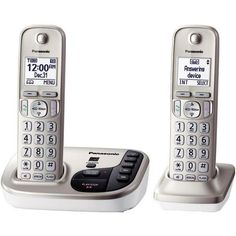 Panasonic KX-TGD222N DECT 6.0 Plus Expandable Digital Cordless Answering System (2-Handset System)