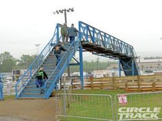 famous backstretch bridge at Williams Grove Speedway