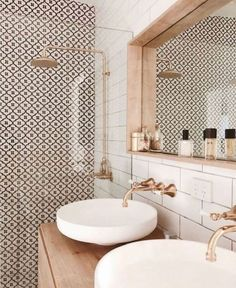Beautiful modern bathroom design with gold accents #bathroom #homedesign #modernbathroom #goldfixtures