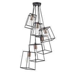 Dar Tower 6 Light Cluster Ceiling Pendant Light In Black With Chrome from Lights 4 Living Direct Lighting, Dar Lighting, Lighting Ideas, Stairway Lighting, Lighting Online, Shop Lighting, Island Lighting, Bedroom Lighting, Industrial Pendant Lights