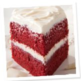 All Natural Red Velvet Cake - colored with red beet root powder