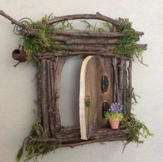 Fairy Door ~ Each One of a Kind ~ Handcrafted by Olive, Fairy Accessories, Fairy Door that Opens, Sealed for Outdoor Optional Display by OliveNatureFolklore on Etsy https://www.etsy.com/uk/listing/488562879/fairy-door-each-one-of-a-kind