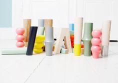 Colorful Prettypegs - these cute furniture legs fit ikea furniture. Ikea hacks.