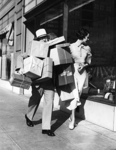 "Before ""Black Friday,"" there were annual Dollar Day sales in the major department stores in downtown Los Angeles. This photo was taken on ""Dollar Day,"" September 1, 1933. (LAPL) Bizarre Los Angeles"