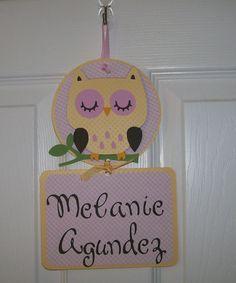 Owl Baby Girl Hospital Door Banner   Baby Girl by KatlinLee123,