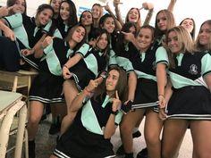 Girl Photo Poses, Girl Photos, Polo Design, Cheer Practice, Senior Shirts, Graduation Photography, Cute Friends, New Look, Cheer Skirts