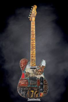 Guitar Girl, Guitar Shop, Telecaster Guitar, Fender Guitars, Electro Acoustic Guitar, Fender Squier, Graffiti, Guitar Painting, Guitar Collection