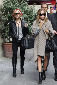 Mary-Kate and Ashley Olsen have worked for their fortune by realising books, perfumes, movies, posters and finally their clothing range. New York Times has declared Mary-Kate as a fashion icon styling a 'Boho-chic' look. The look consists of oversized sunglasses, boots, loose jumpers for over skirts,layering, and lots of black. The pair have collaborated with…
