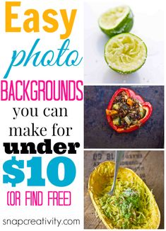 Easy photo backgrounds you can make for under $10 or find for free!