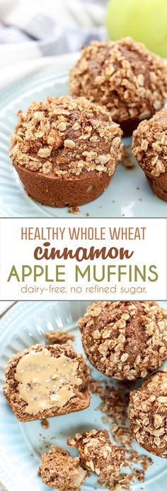 Cinnamon Apple Muffins are the perfect breakfast or snack! Perfectly soft, moist, filled with apples and cinnamon, plus topped off with a delicious oat streusel. --new favorite!