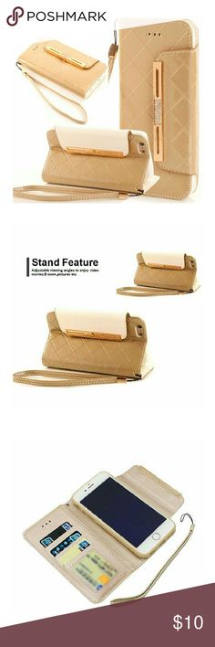 iPhone 7 Wallet Case Leather.. Brandnew iPhone 7 Case,iPhone 7 Wallet Case,iPhone 7 Leather Wallet Case,Flidm Flipcase Elgant [Gold] Flip Leather Wallet Phone Case [Card Slot][Flip][Wallet] With Strap - For iPhone 7 4.7 inch Accessories Phone Cases