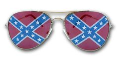 Rebel Confederate Flag Aviator Sunglasses. I just bought these for Shiley Acres next month too!! They're freakin' awesome