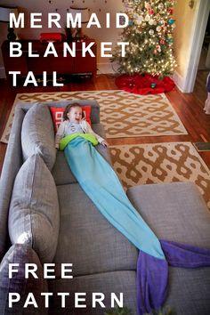 Mermaid Tail Blanket: Free Pattern on BurdaStyle.