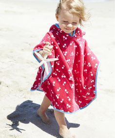 Mothercare Soft Poncho- Cherries