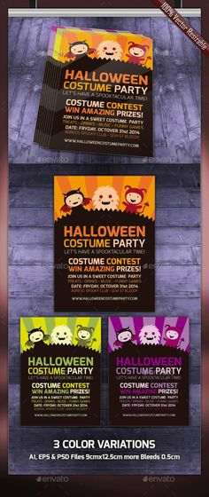 Halloween Party Invitations By Barcelona Design Shop On Creative - Party invitation template: halloween costume party flyer