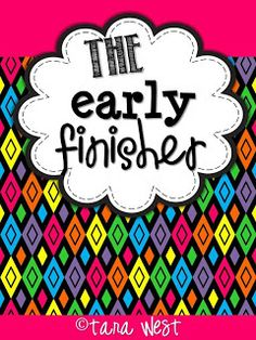 The Early Finisher! Activities to keep your early finishers busy :) Kindergarten Classroom, Classroom Activities, Classroom Ideas, Classroom Routines, Kindergarten Reading, Teaching 5th Grade, Teaching Tools, Journal Format, Education And Literacy