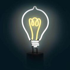 Lightbulb Neon Desk Light #neon #neonsign #homedecor #decor #neonlights #neonlamp #lighting #lightbulb