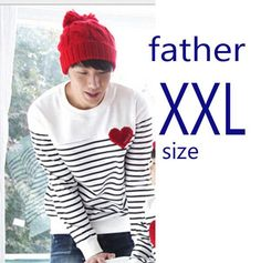 family matching clothes Spring Autumn family clothing sets long sleeve love Stripe father daughter baby girl boy clothes